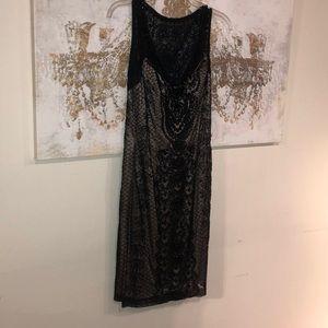 💜 Amazing Black Sue Wong beaded dress size 4